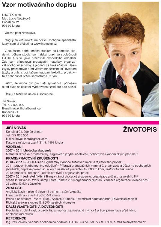 Zivotopis A Motivacni Dopis Vysokeskoly Com Verejne Statni A